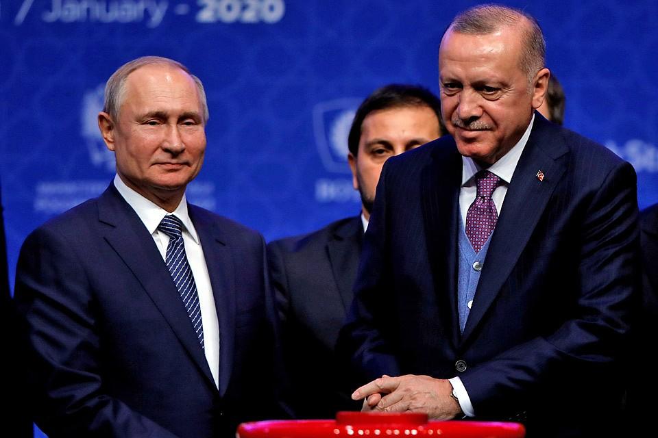 Путин и Эрдоган запустили «Турецкий поток» и обсудили, как удержать Ближний Восток от большой войны